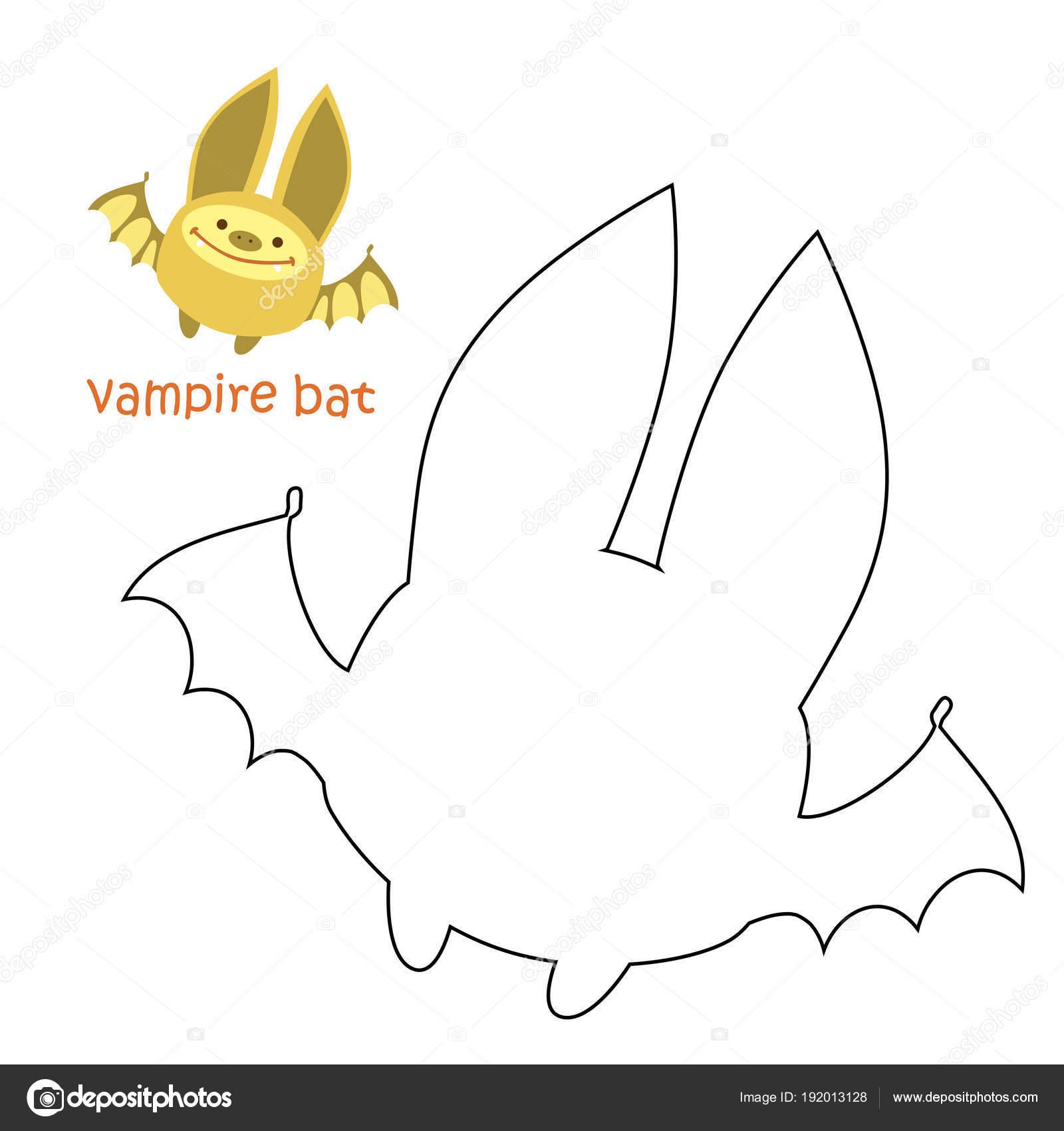 Niños colorear página: murciélago — Archivo Imágenes Vectoriales ...