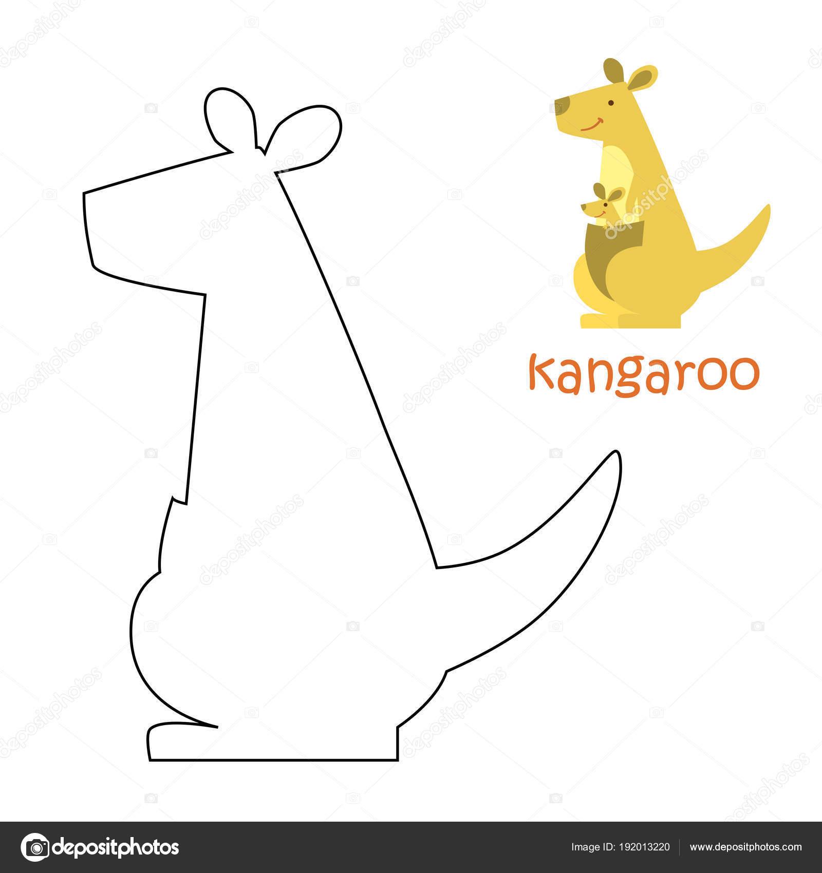 Kinder Malvorlagen - Känguru — Stockvektor © ollegN #192013220