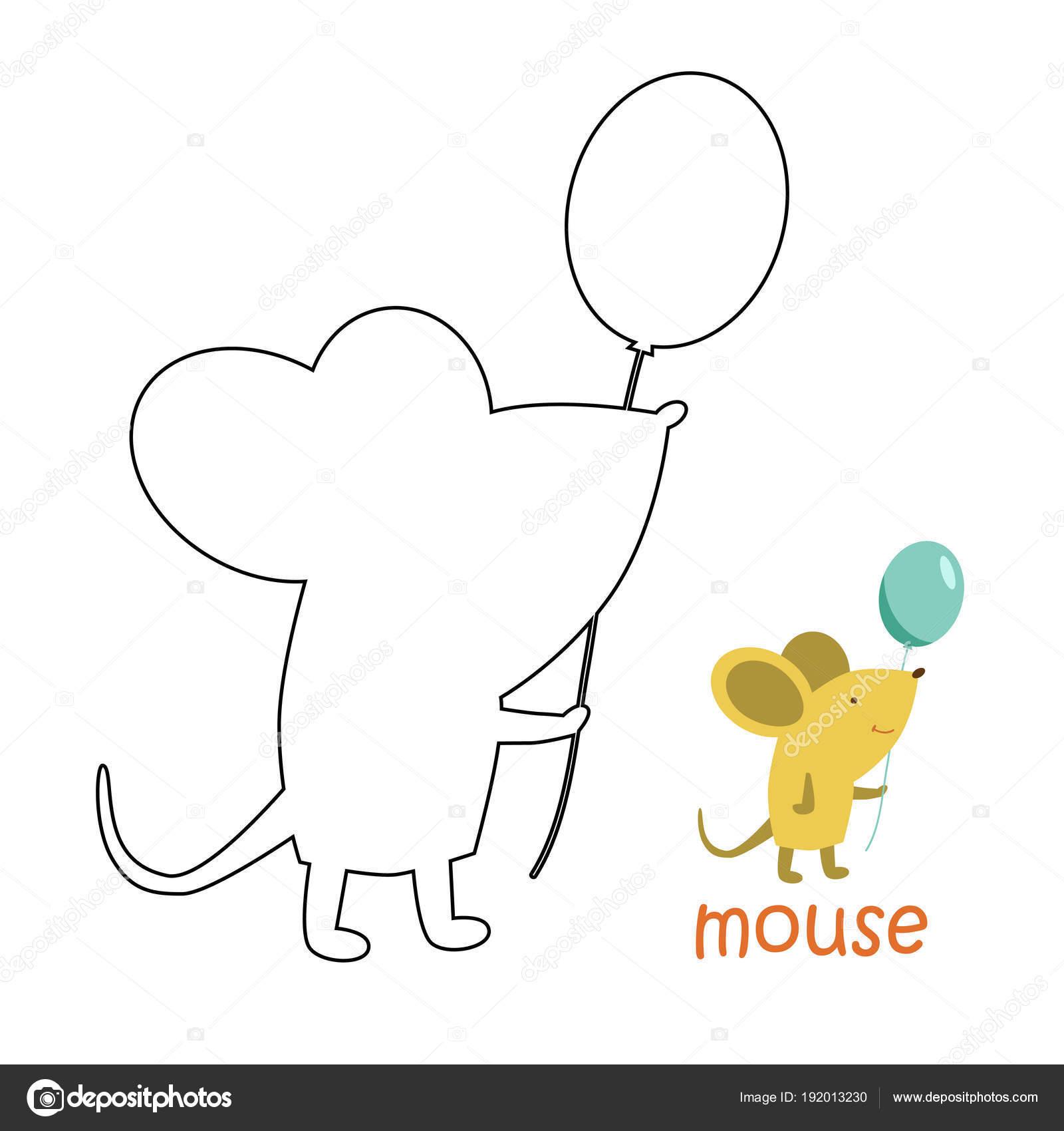 Kinder Färbung Seite - Maus — Stockvektor © ollegN #192013230
