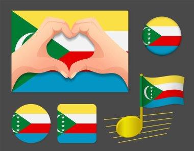 Comoros flag icon. National flag of Comoros vector illustration.