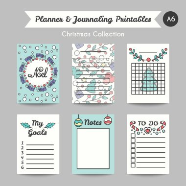 Christmas Printable Journaling Cards. Line Style Jornal Pages