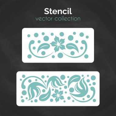 Stencil. Laser cuting template. Pattern for decorative panel. Floral ornament for wall decoration. stock vector