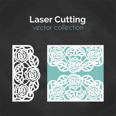 Laser Cut Template. Card For Cutting. Cutout Illustration