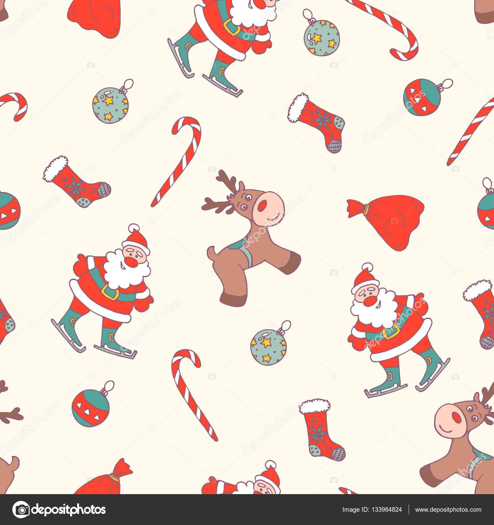 patrón sin costuras de Navidad — Vector de stock © kamimi #133984824
