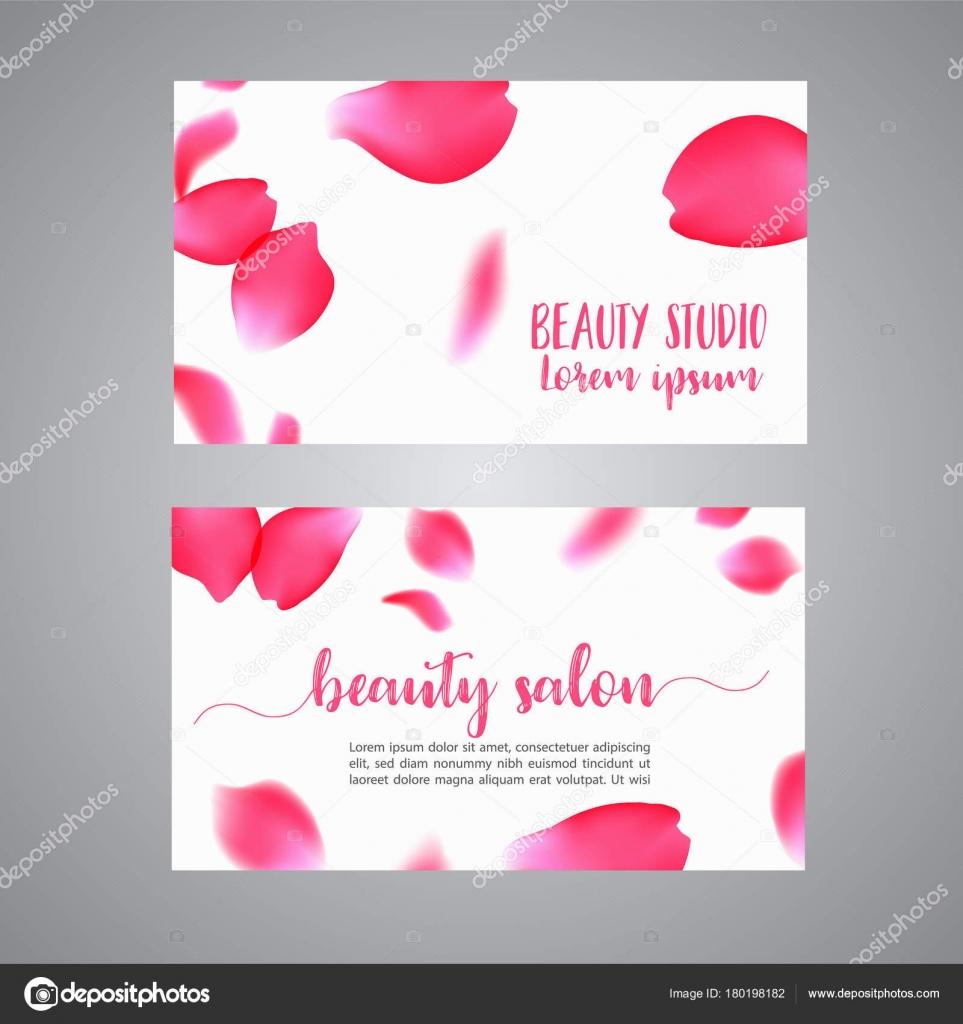 Modle De Carte Visite Vecteur Avec Ptales Roses Floral Concept Boutique Bijoux Fleurs Salon Beaut Spa Fashion Flyer