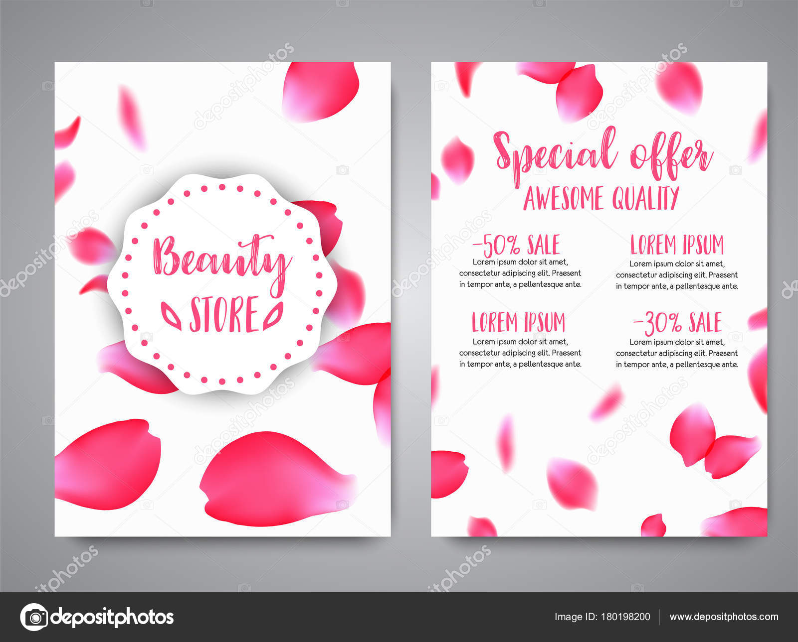 vector vertical banners template with rose petals business floral