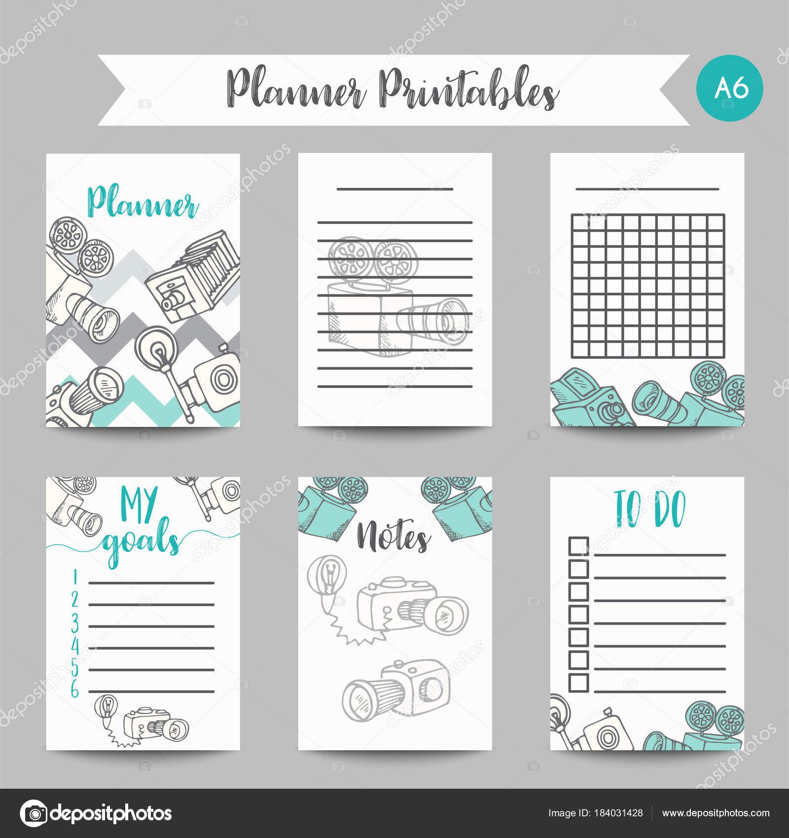 Tägliche und wöchentliche Planer Vorlage Kalender. Hinweis: Papier ...