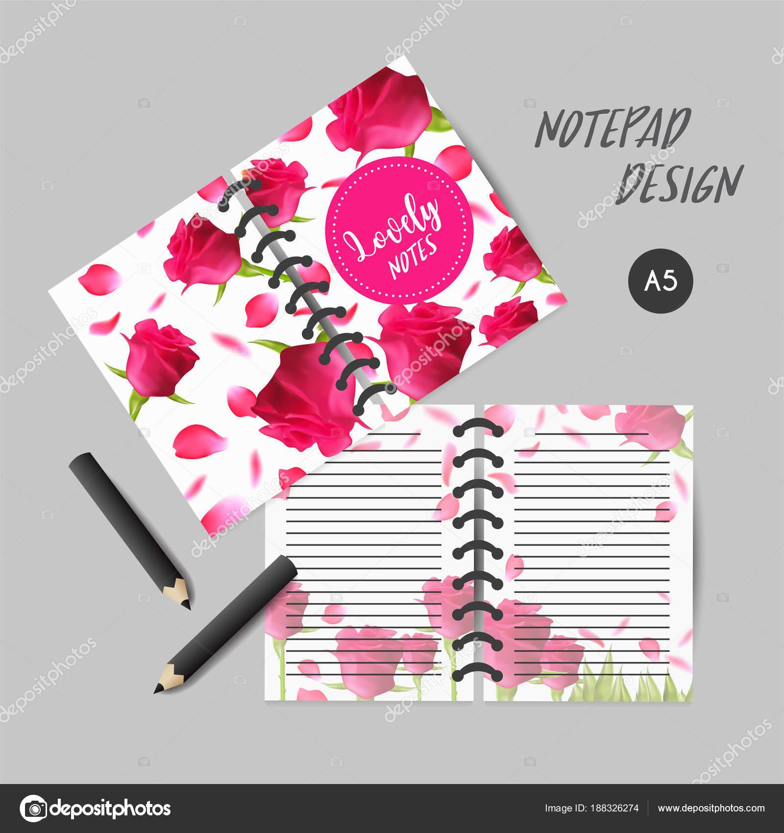 Covergestaltung für Notebooks oder Sammelalben mit Rosen. Tägliche ...