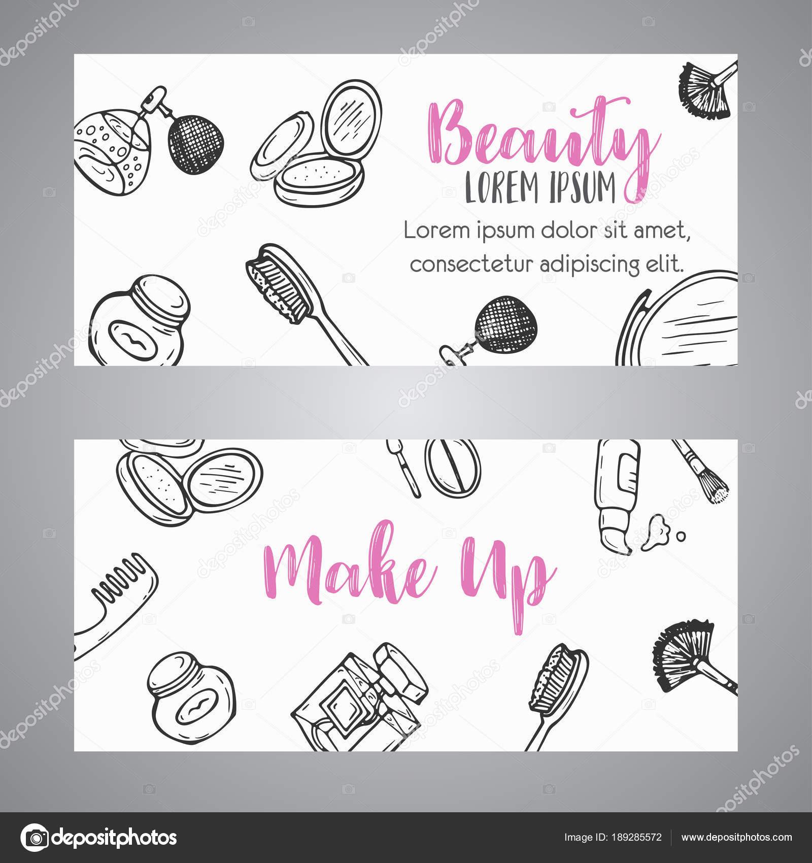 Make-up Unternehmen Banner Kosmetikartikel. Anzeige für Shop, Beauty ...