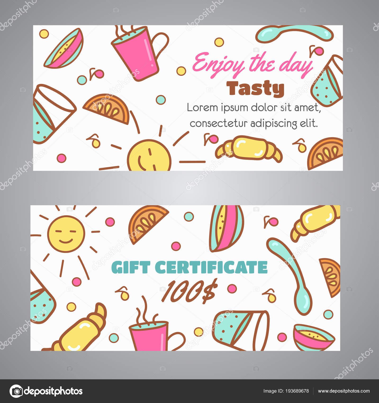 Appreciez Le Slogan De La Journee Cafe Carte Visite Pour Concept Boulangerie Bon Et The Vecteur Design Icones Ligne Illustration