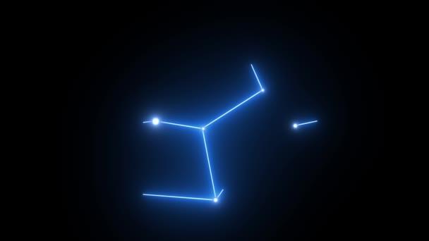 Znamení zvěrokruhu panna hvězda souhvězdí tvoří v zářící světle