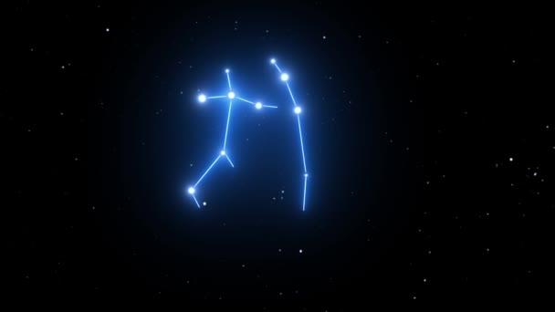 Gemini-Sternbild auf einem schönen Sternenhintergrund