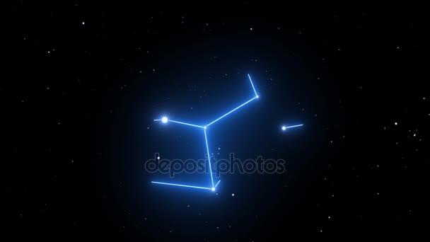 Souhvězdí Panny na pozadí krásné Hvězdné noci