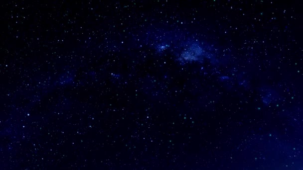 Shooting Stars On A Beautiful Starry Night Sky Stock Video