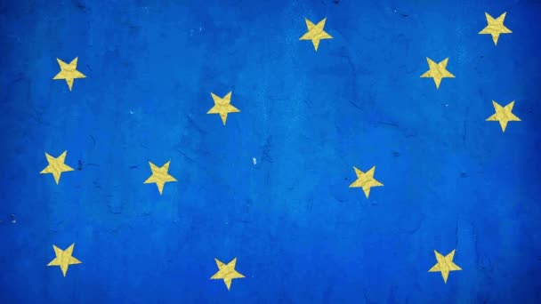 European Union Symbol From From Paper Stars In Stop Motion