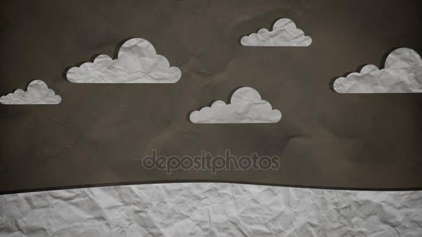 Megáll jelet ad papírt felhők lassan halad