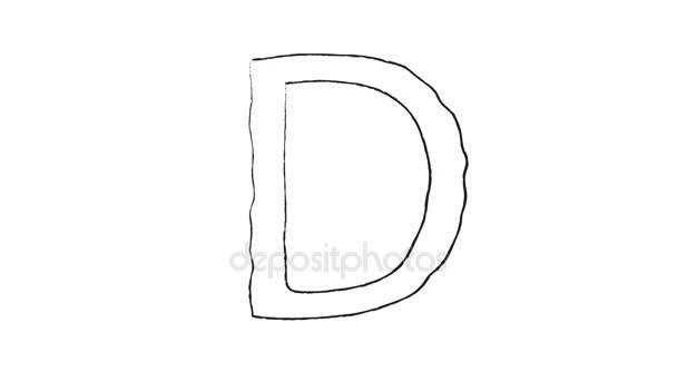 A-Z kapitálu ruku skica kreslený písmena na bílém pozadí