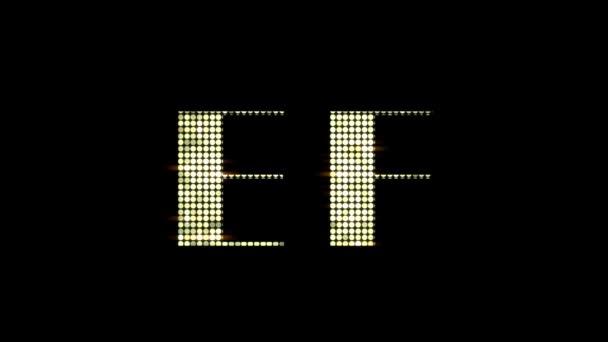 Módní elegantní lesklý abeceda písmen Abc A-Z