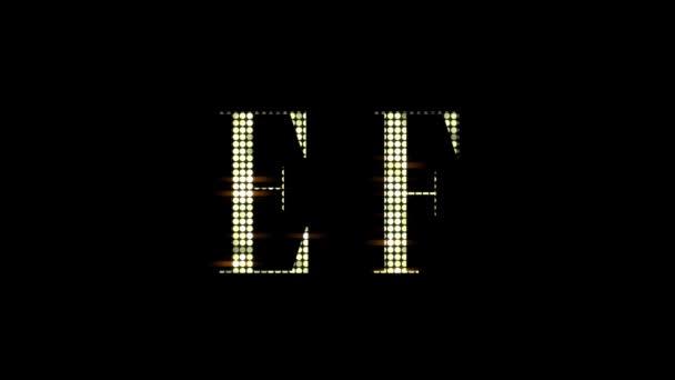 Glamorous Shinning Alphabet Letters Abc A-Z