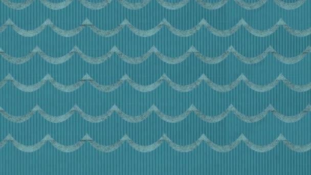 Divadelní lepenkové animovaný moře vlny pozadí