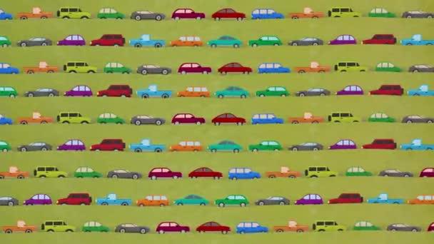 Spousta aut kreslené vektorové řízení v dopravní špičce