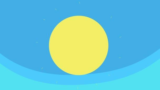 Rajzfilm nagy nap fel a kék égen