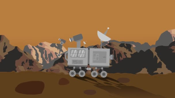 Space Rover on Planet Mars at Day Time