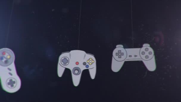 Joystick különböző játék konzolok lóg és a Swinging
