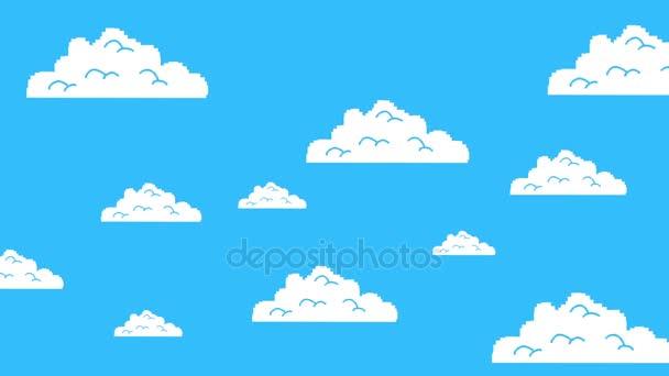 Régi Retro játék Arcade felhők mozgó a kék ég