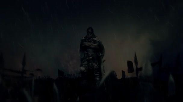 Viking válečník s armádou po nájezdu