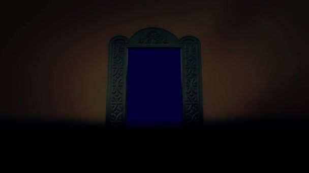 Gruselig und beängstigend gerahmt Spiegel inmitten eines Sturms. Spiegelschlüssel perfekt