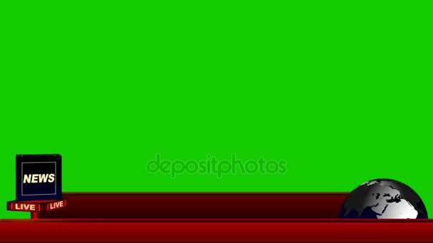 Live News Flash Lower Third on a Green Screen Background
