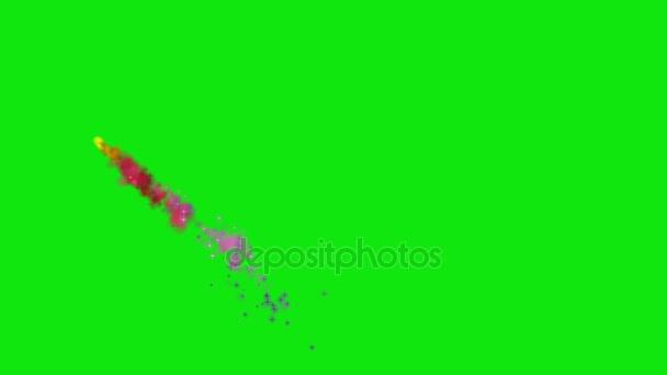 Barevný kouř na zelené obrazovce