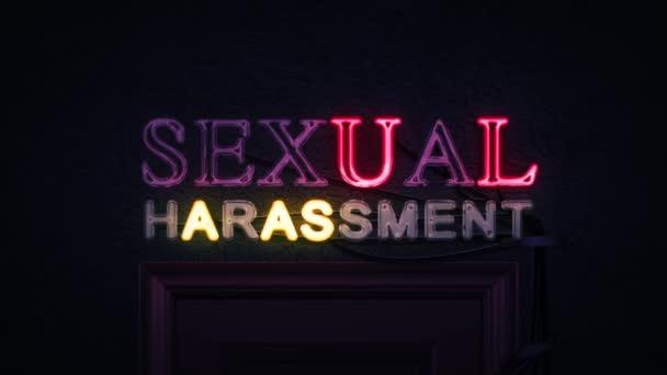 Sexuální obtěžování neonový nápis zapnutí a vypnutí