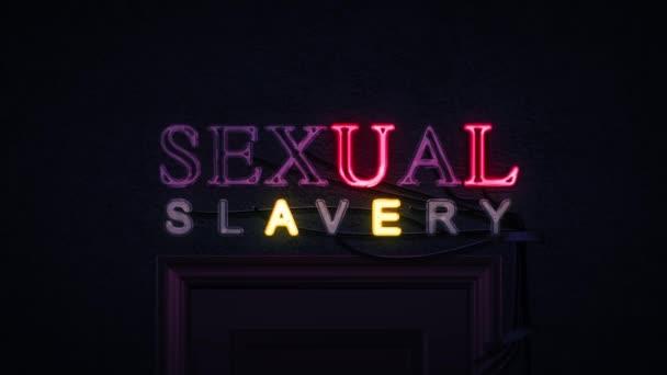 Sexuální otroctví neonový nápis zapnutí a vypnutí