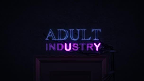 Dospělé průmyslu neonový nápis zapnutí a vypnutí