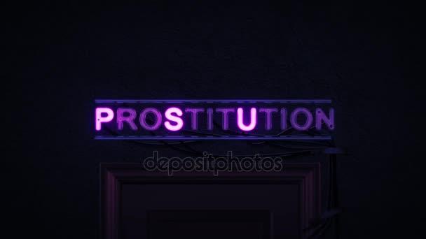 Prostituci neonový nápis zapnutí a vypnutí