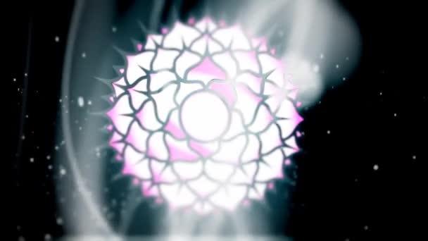 Korunní čakra Sahasrara Mandala otáčí v oblasti energetiky