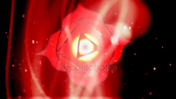 Kořenová čakra Muladhara Chakra Mandala otáčí v oblasti energetiky