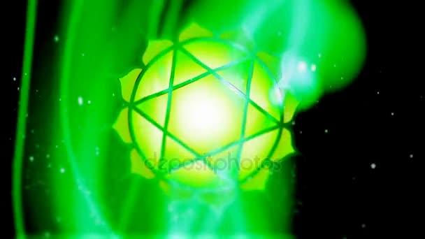 Srdeční čakra Anahata Mandala otáčí v oblasti energetiky