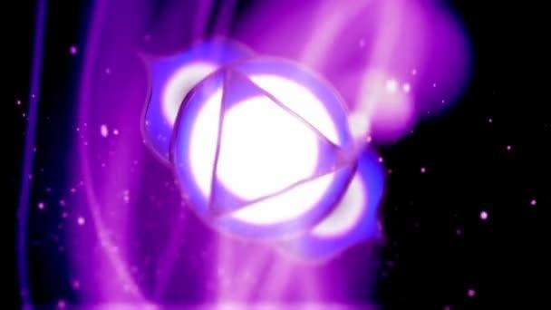 Třetí oko čakra Ajna Mandala otáčí v oblasti energetiky