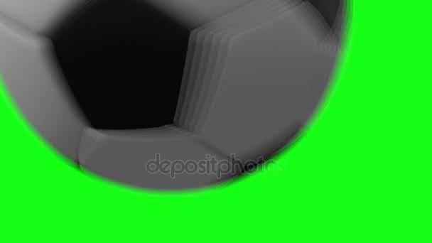 Labdarúgás foci labda videóinak átmenet egy Tv-show, a zöld képernyő háttér