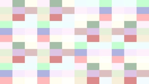 Barevné obdélníky na pozadí měnící odstíny blikáním