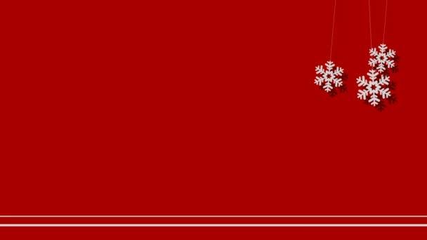 Vektorový pozadí Vánoční sněhové vločky na provázku