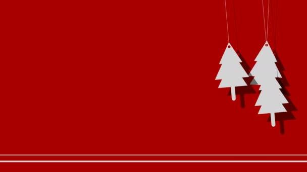 Vektorový pozadí vánočních stromů na provázku