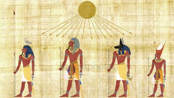 Bohové a faraonů pod egyptský Symbol slunce
