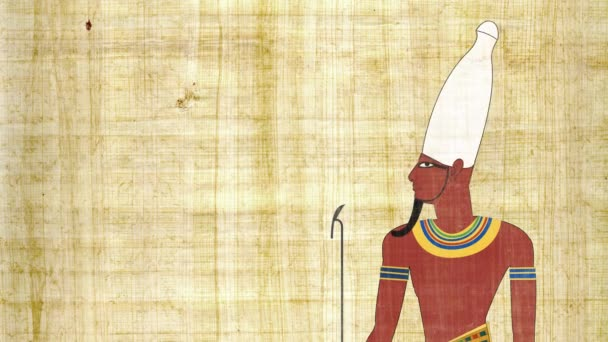 Upper Egypt faraon v pozadí Papyrus