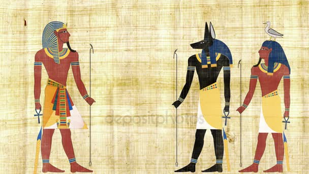 Anubis egyptských bohů a Geb v přední faraon