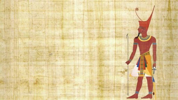Dolní Egypt faraon na pozadí Papyrus