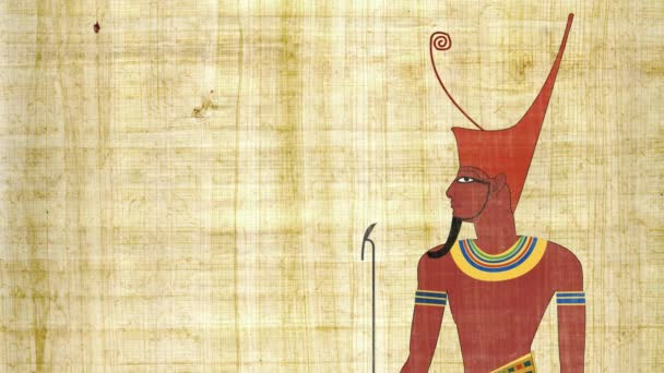 Dolní Egypt faraon v pozadí Papyrus